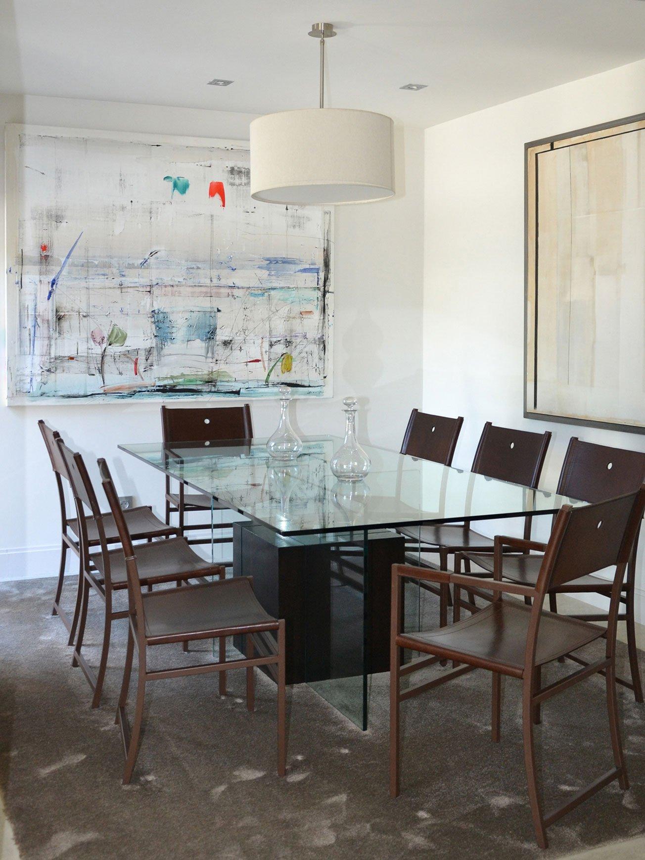 Comedor con mesa cristal y sillas Cj2